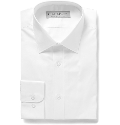 Cotton-Blend Poplin Shirt by Gieves & Hawkes in Scandal - Season 5 Episode 1