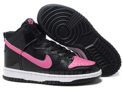 Pink/Black Leather High Top Sneaker by Nike in Pitch Perfect 2