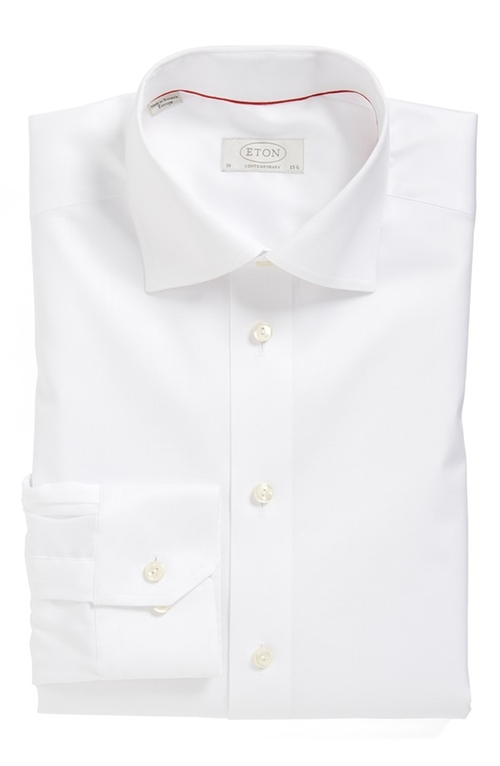 Contemporary Fit Solid Dress Shirt by Eton in Suits