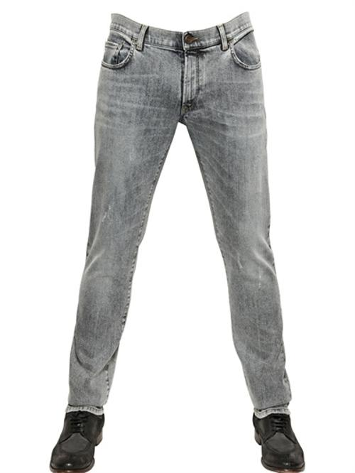 Gold Fit Washed Cotton Denim Jeans by Dolce & Gabbana in What If