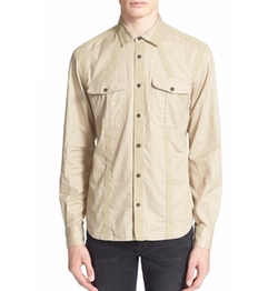'Sinclair' Extra Trim Fit Taped Shirt by Belstaff in Empire