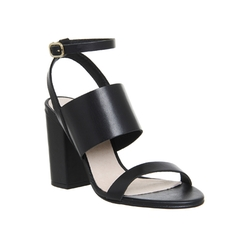 Time Leather Heeled Sandals by Office in Fuller House