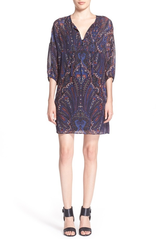 Aggi Paisley Print Silk Tunic Dress by Joie in Modern Family