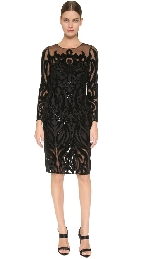 Long Sleeve Dress by Marchesa Notte in The Good Wife