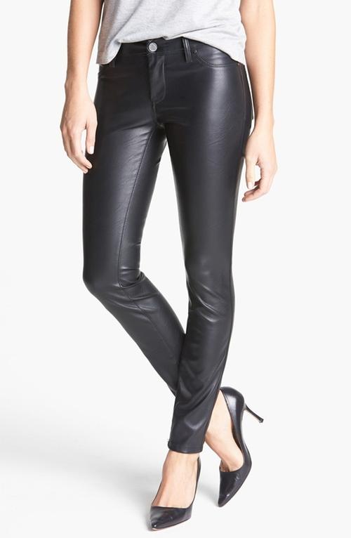 Faux Leather Skinny Pants by BLANKNYC in Arrow - Season 4 Episode 9