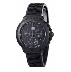 'Formula 1' Black Dial Chronograph Watch by Tag Heuer in Jason Bourne