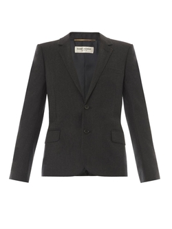 Notch-Lapel Flannel Blazer by Saint Laurent in The Flash