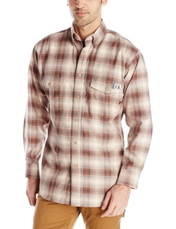 Men's Flame Resistant Plaid Twill Shirt by Wolverine in Supernatural