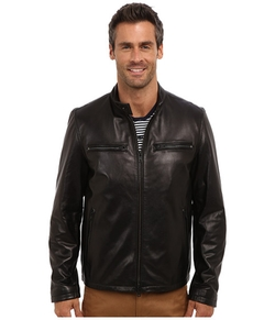 Smooth Lamb Moto Jacket by Vince Camuto in The Flash