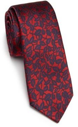 Leaf Print Tie by Z Zegna in Empire