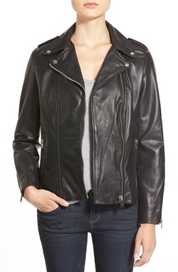 Lambskin Leather Moto Jacket by La Marque in Jessica Jones