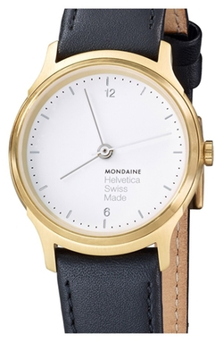 Round Leather Strap Watch by Mondaine in Trainwreck
