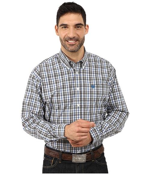 Plain Weave Plaid Shirt by Cinch in Modern Family - Season 7 Episode 1