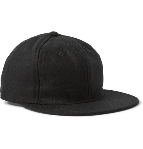Wool-Broadcloth Baseball Cap by Ebbets Field Flannels in Ted 2
