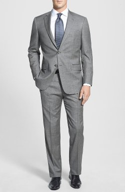 New York Classic Fit Wool Suit by Hart Schaffner Marx in Crazy, Stupid, Love.