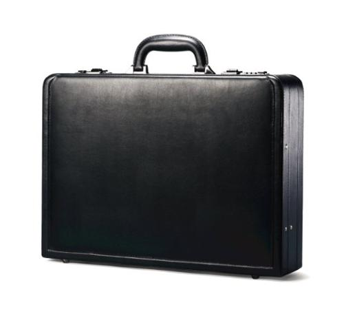 Bonded Leather Attache Case by Samsonite in Pain & Gain