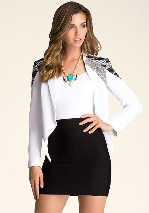 Draped Front Blazer by Bebe in Pretty Little Liars - Season 6 Episode 4