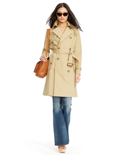 Slim-Fit Cotton Trench Coat by Ralph Lauren in The Women