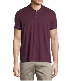 Short-Sleeve Slub Polo Shirt by Vince in New Girl