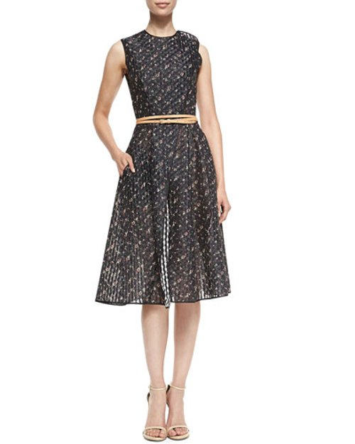 Floral Organza Dress with Belt by Victoria Beckham in Fifty Shades of Grey