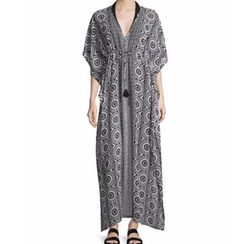 Geo Relief Maxi Caftan by Tommy Bahama in Grace and Frankie