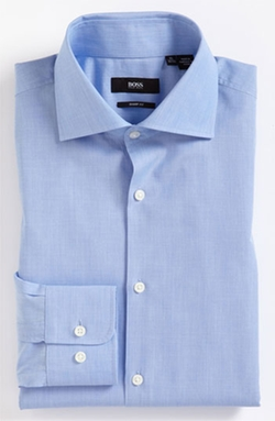'Miles' Sharp Fit End-on-End Dress Shirt by Boss Hugo Boss in Gone Girl