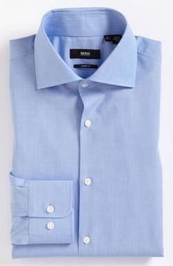 'Miles' Sharp Fit End-on-End Dress Shirt by Boss Hugo Boss in Gone Girl