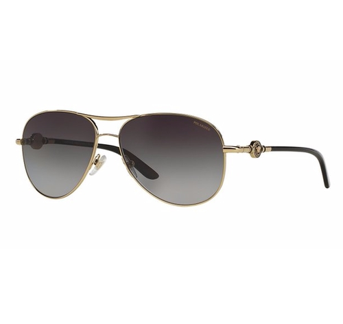 Metal Aviator Sunglasses by Versace in Rosewood