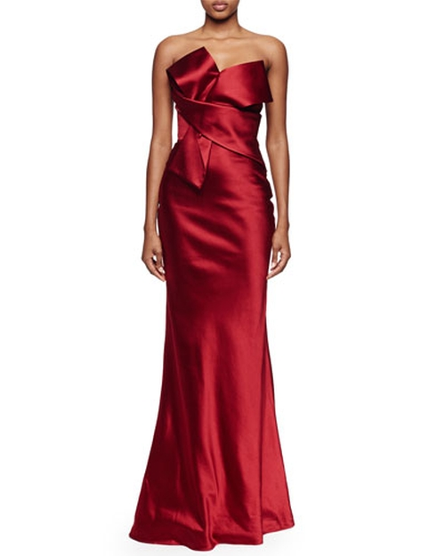 Origami Strapless Gown by Alexander McQueen in Scandal - Season 5 Episode 9