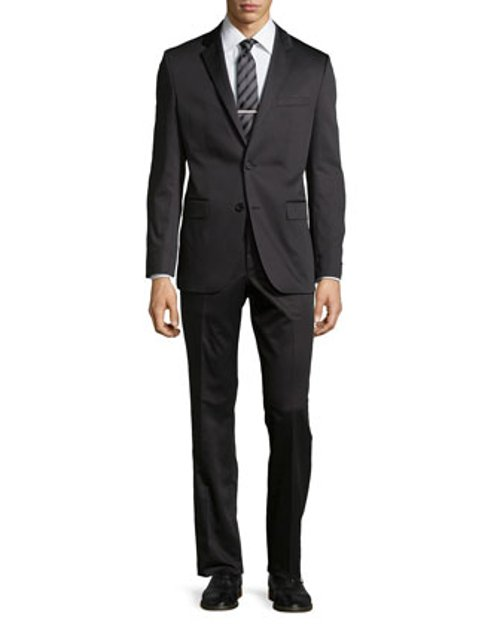 Grand Central Gabardine Two-Piece Suit by Hugo Boss in The Age of Adaline