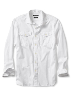 Camden-Fit Utility Shirt by Banana Republic in Mad Dogs