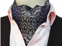 Jacquard Woven Ascot Tie by Secdtie in Shadowhunters