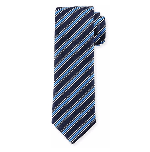 Rep-Striped Silk Tie by Boss Hugo Boss  in How To Get Away With Murder - Season 3 Episode 3