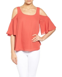 Chiffon Cold Shoulder Top by Chelsea28 in Fuller House