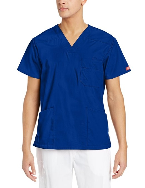 V-Neck Scrub Double Chest Pocket Top by Dickies in Self/Less