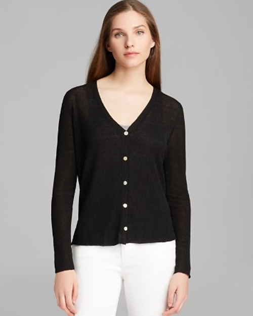 V Neck Drape Back Cardigan by Eileen Fisher in Mean Girls