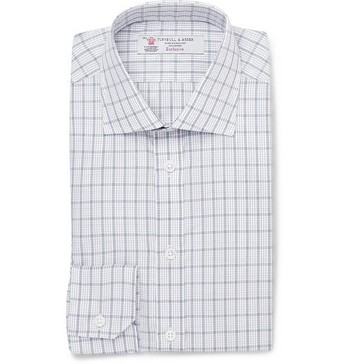 Slim-Fit Check Cotton Shirt by Turnbull & Asser in Suits - Season 5 Episode 2