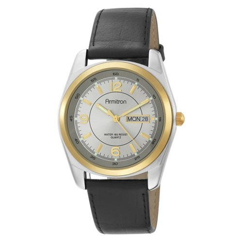 Leather Strap Analog Watch by Armitron in Self/Less