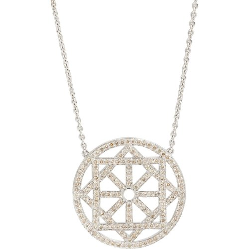 Champagne Diamond & White Gold Arch Necklace by Pamela Love in Only God Forgives