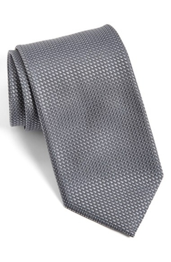 Geometric Silk Tie by Canali in Suits