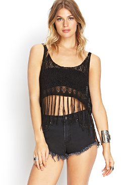 Sheer Moments Cropped Tank by Forever 21 in If I Stay