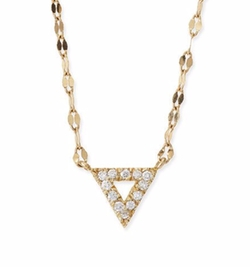 Diamond Spike Pendant Necklace by Lana in Guilt