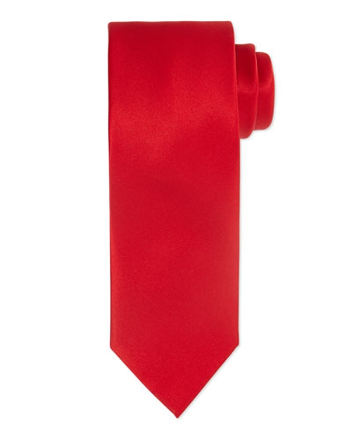 Solid Silk Satin Tie by Brioni in Hitman: Agent 47