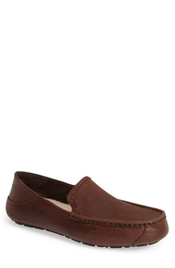 'Hunley' Leather Moccasin Loafers by UGG Australia in Modern Family