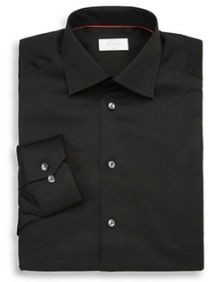Slim-Fit Solid Dress Shirt by Eton of Sweden in Life