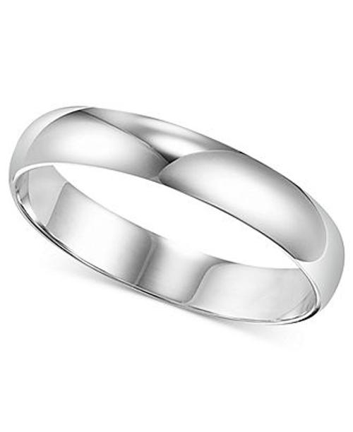 Men's Platinum Ring Wedding Band by Macy's in Couple's Retreat