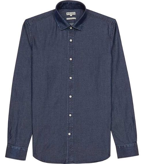 Slim-fit Chambray Shirt by Rhodes in Hot Tub Time Machine 2