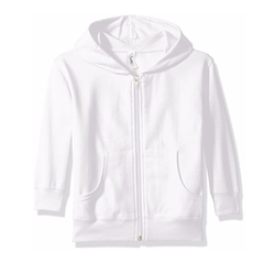 Girl's Full-Zip Fleece Hooded Sweatshirt by Clementine in Logan