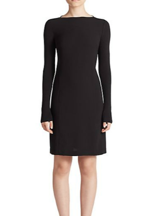 Ribbed Knit-Sleeve Crepe Dress by Vince in Jessica Jones - Season 1 Episode 1