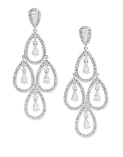 Cubic Zirconia Chandelier Drop Earrings by Nadri in American Horror Story